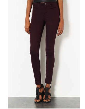 topshop aubergine jeans