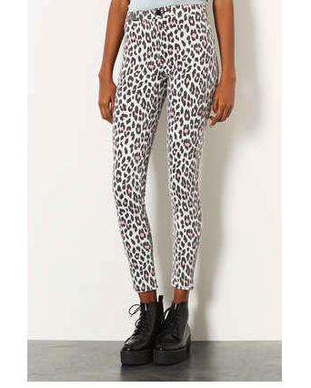 topshop moto leopard jeans