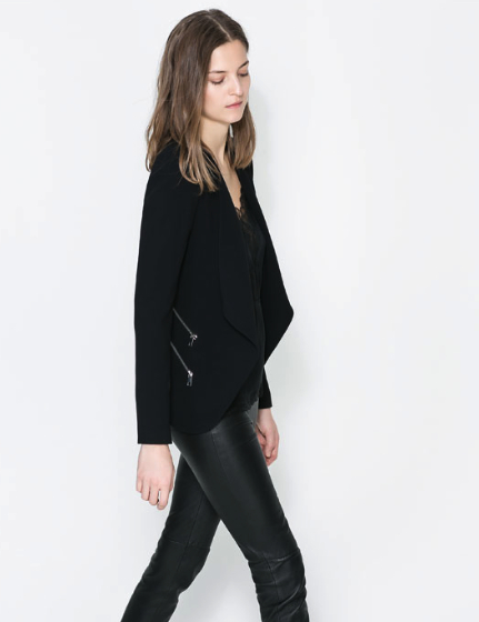 zara blazer with zips