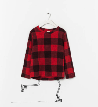 zara checked sweatshirt