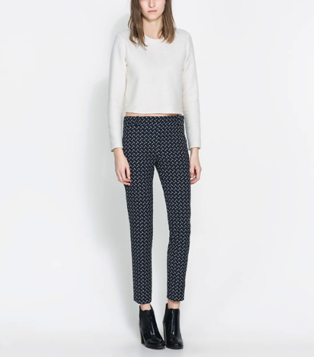 zara trousers under 100