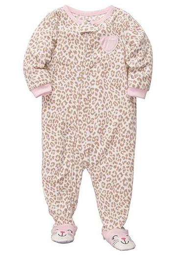 Carter's leopard print pajamas