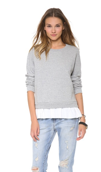 Clu sweatshirt with ruffle