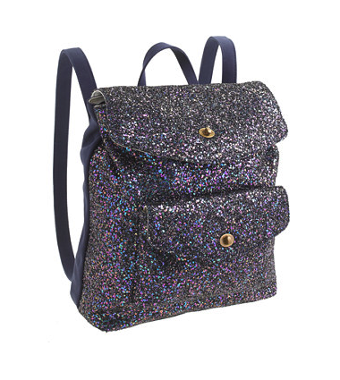 J Crew backpack glitter