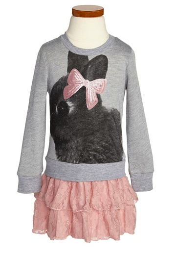 Jenna & Jessie bunny lace dress