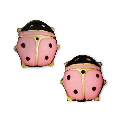 Macy's children's ladybug earrings