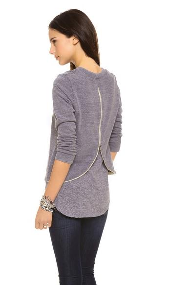 Monrow zip back sweatshirt