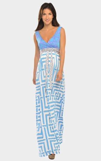 Olian maternity maxi-dress
