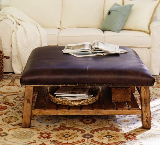 Pottery Barn ottoman coffee table