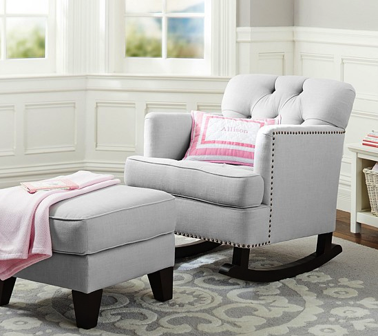 Pottery Barn tudor rocker