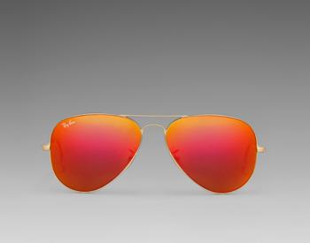 Rayban orange aviators