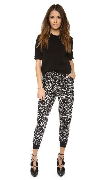 Rebecca Taylor tiget print track pants