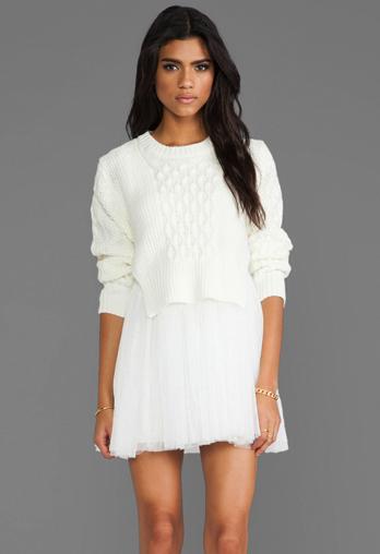 Unif dress sweater combo