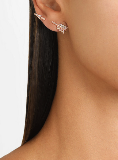 anita ko rose gold diamond earring