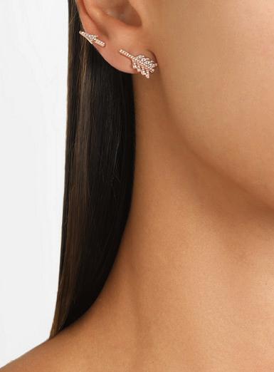 anita ko rose gold diamond earring