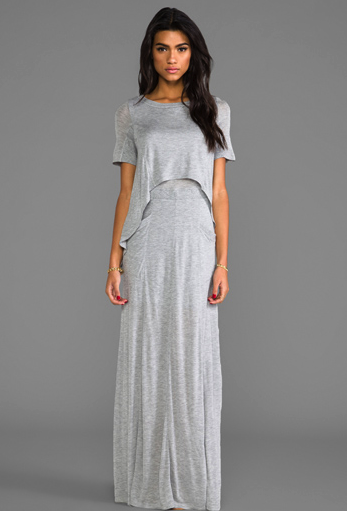 heather layered maxi dress