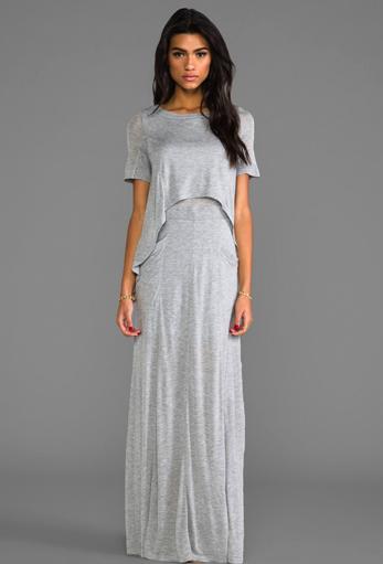 heather layered maxi dress