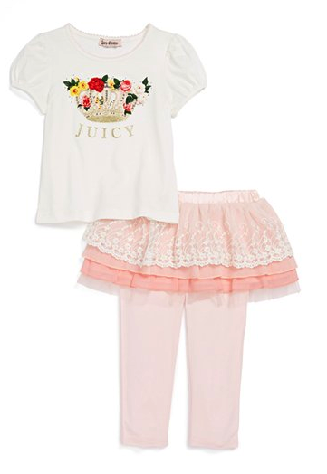juicy couture tee and leggings set