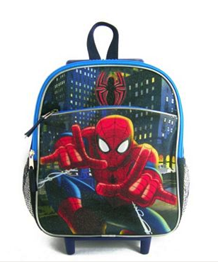 spiderman rolling backpack
