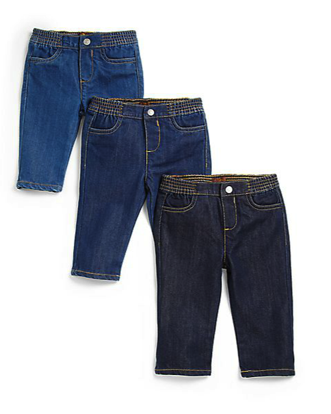 7 For All Mankind infant 3 pc baby's first jeans set