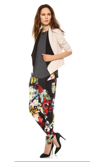 Alive + Olivia floaral print pants