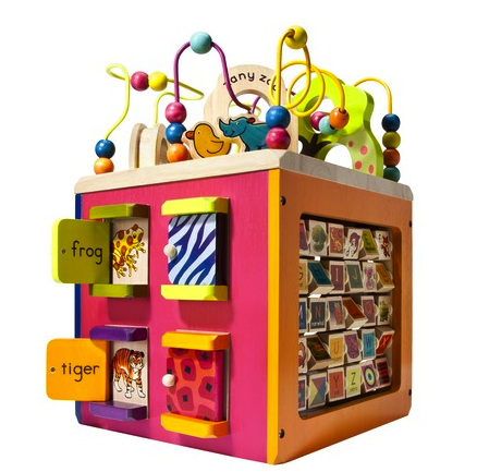 B Zany Zoo activity cube