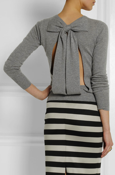 Burberry Prorsum bow back sweater