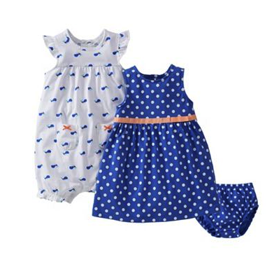 Carter's dress and romper set
