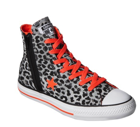 Converse high-tops leopard print