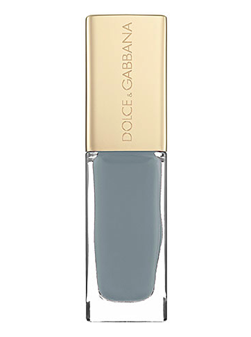 Dolce & Gabbana blue grey nail polish