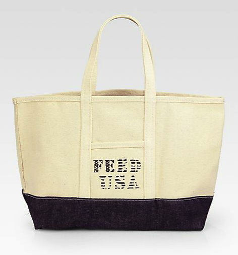 Feed canvas tote