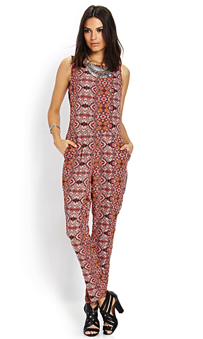Forever 21 paisley jumpsuit