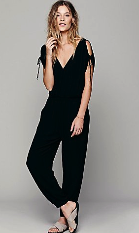 Free People black jumpsuit