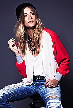Free People bomber jacket