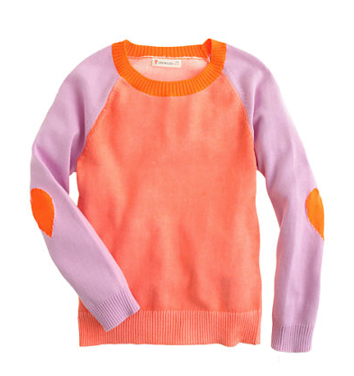 J Crew girls color block sweater