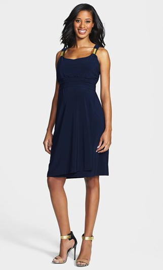 Japanese Weekend navy maternity dress