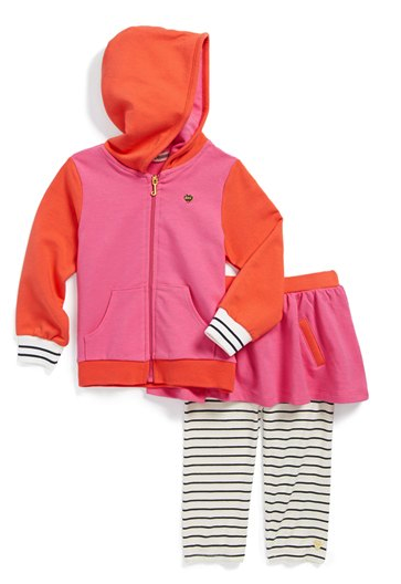Juicy Couture hoodie and skirted leggings