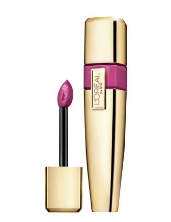L'Oreal lip lacquer in stubborn plum