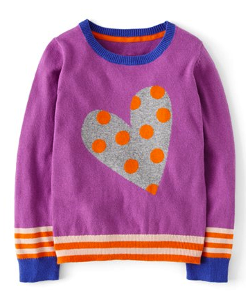 Mini Boden girls sweater