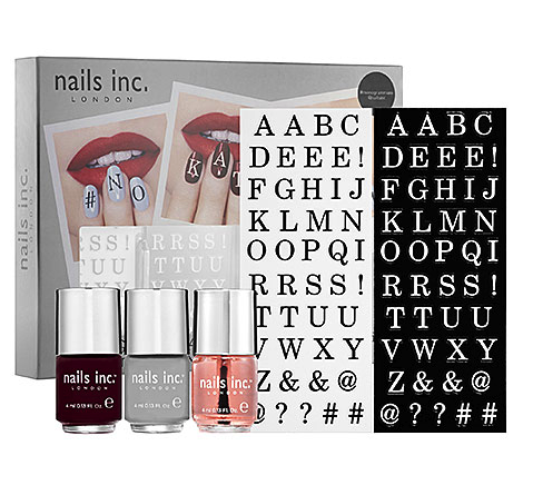 Nails Inc. monogram manicure