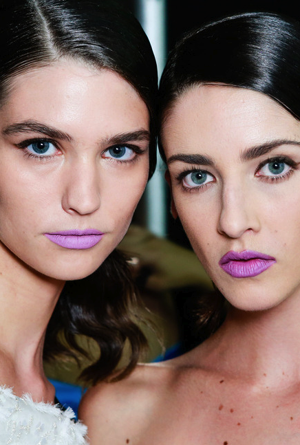 Prabal Gurung purple lips
