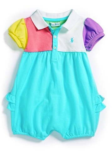Ralph Lauren color block romper
