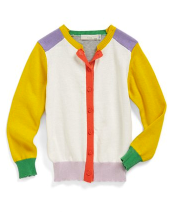 Stella McCartney Kids color block cardigan