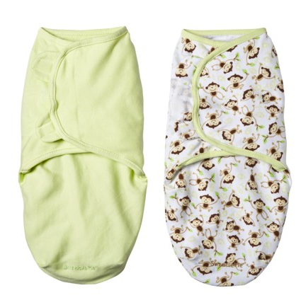 Summer Infant velcro swaddle 2 pack