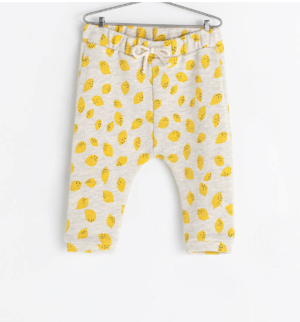 Zara lemon print trousers