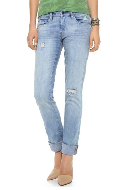 blank denim straight jeans