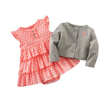 carter's dress and cardigan set
