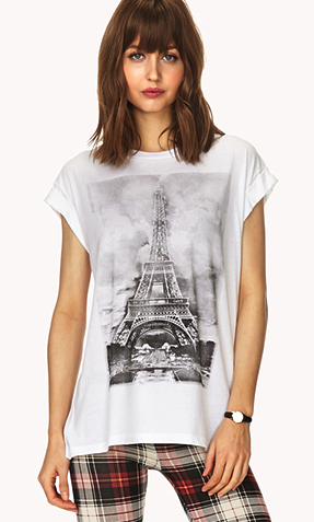 forever21 printed tee