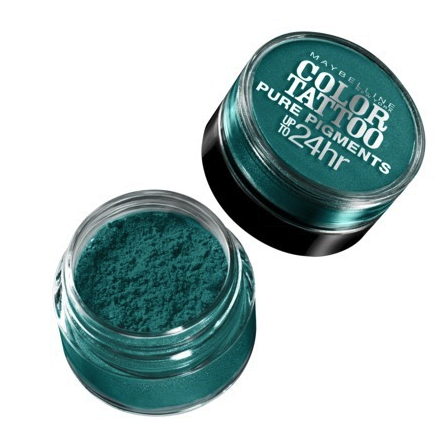 maybelline pure pigment powder in jade forrest