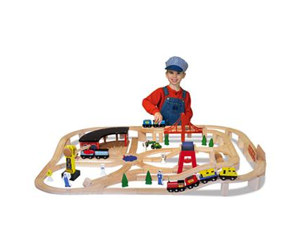 melissa and doug wooden rainroad